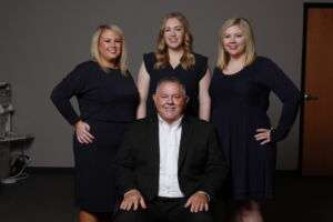 Paradigm Health founder and CEO Jeff Jarecki with his daughters Jenna, Jessica and Jaymie